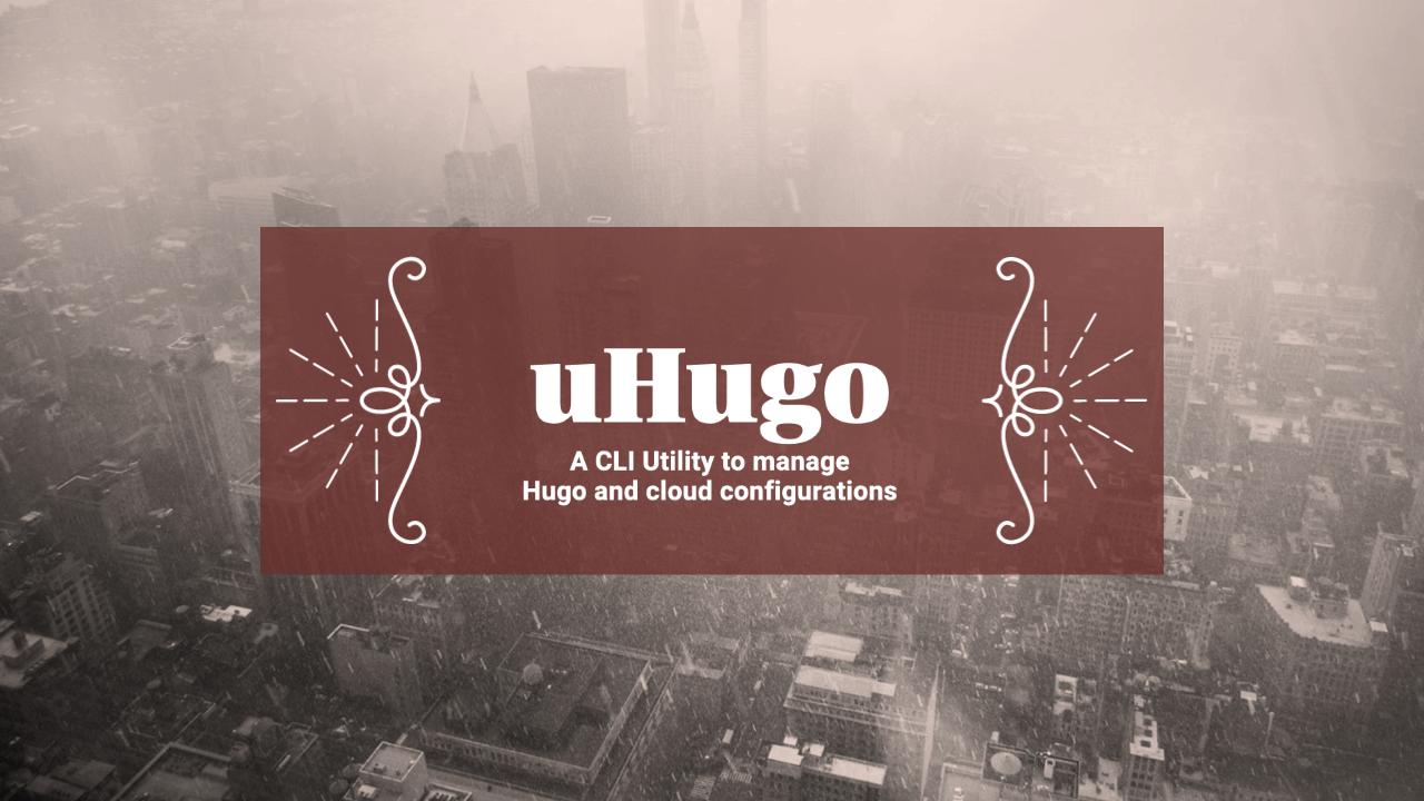 uHugo: A CLI Tool for Hugo Static Site Generator